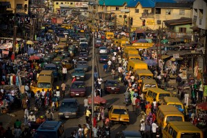 The chaotic streets of Lagos the financial capital of Nigeria